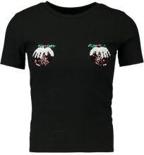 New Look CHRISTMAS PUD RIB TEE  Tshirt con stampa black