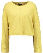 Topshop WIDE SLEEVE CROP Maglione yellow