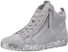 Gabor Shoes Comfort, Scarpe da Ginnastica Basse Donna, Grigio (Lightgreykristall), 37 EU