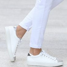 Sneakers con dettagli glitter & metallizzati