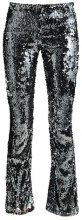 Topshop SEQUIN FLARE Leggings gunmetal