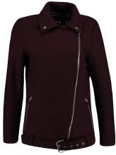 Lost Ink WOOL BIKER Giacca leggera burgundy