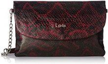 LPB Woman W16b0102, Borsa a tracolla donna , Rosso (Rosso (Bordeaux)), Taille Unique