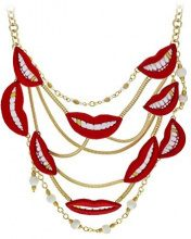 Sveva Collection           , ottone, colore: Red, cod. SMILE NECKLACE RED