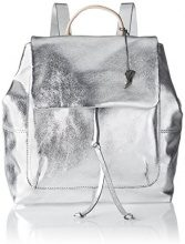 Clarks Totterdown Bay - Borse a zainetto Donna, Silber (Metallic Leather), 15x30x42 cm (L x H D)