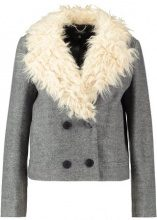Topshop CROP FUR COLLAR CROP Giacca leggera grey marl