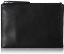 Ecco Sculptured Small Clutch - Pochette da giorno Donna, Schwarz (Black), 2x14x20 cm (B x H T)