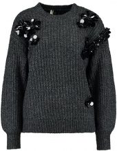 Topshop CLUSTER EMBELLISHMENT Maglione charcoal