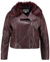 Lost Ink Plus JACKET WITH TRIM Giacca in similpelle oxblood