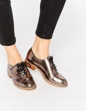 New Look - Scarpe brogue metallizzate
