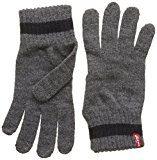 Levi's Gloves Ov, Guanti Unisex-Adulto, Grigio (Noir Regular Grey), Medium