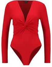 Miss Selfridge TWIST FRONT SLINKY  Maglietta a manica lunga red