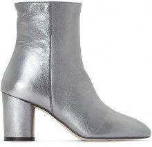 Boots in pelle metallizzata