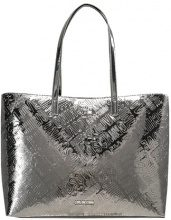 Love Moschino METALLIC EMBOSSED Shopping bag silver