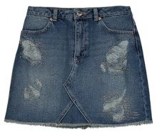 Miss Selfridge HOT FIX DENIM SKIRT Gonna di jeans blue