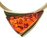 InCollections 31203543100 - Catenina con pendente da donna con ambra, argento sterling 925, 450 mm