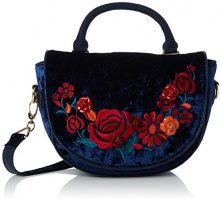 Irregular Choice Casa Blanka Bag - Borse a mano Donna, Blue, 11x18x25 cm (W x H L)
