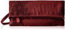 Boscha BO-1245-MT, Pochette Donna, Rosso (Marsala), 1x14x29 cm