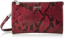 Armani Jeans Wallet - Borse Baguette Donna, Rot (Burgundy), 12x4x20 cm (B x H T)