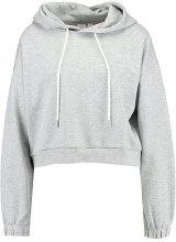 GAP CROP  Felpa con cappuccio light heather grey