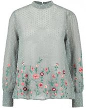 New Look EMBROIDERED BOTANICAL DOBBY SHELL Camicetta light grey