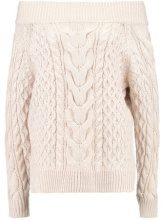 New Look CABLE BARDOT JUMPER Maglione nude
