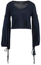 Lost Ink VOLUME SLEEVE JUMPER Maglione navy