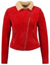 Freaky Nation TEDDY STAR  Giacca di pelle red/birch
