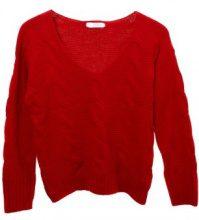 Pullover a maglia con scollo a V