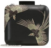 Topshop BIRD BOXY CLUTCH Pochette black