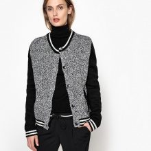 Cardigan teddy, con bottoni a pressione, in lana