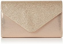Swankyswans Womens Kelly glitter busta pochette partito Prom borsa frizione, oro (Gold (Champagne)), Taglia unica