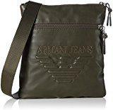 Armani Jeans Piattina Grande - Borse a spalla Uomo, Grün (Verde), 23x2x21 cm (B x H T)