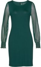 Abito in maglina con maniche in mesh (Verde) - bpc selection