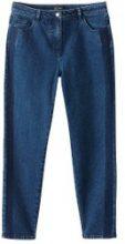 Jeans mom con bande a contrasto