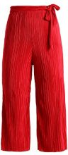 Miss Selfridge PLISSE TIE WAIST CROP TROUSER Pantaloni red