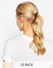 ASOS - Confezione da 10 semplici elastici per capelli neri
