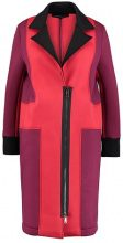 one more story Cappotto classico beet red multi color