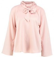 Cortefiel BLOUSE WITH GATHERED COLLAR AND BACK TIE DETAIL Tunica rose