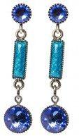 SMALL TONES BEATING - Orecchini - dark blue/antique silver-coloured