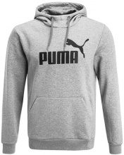 Puma ESS LOGO HOODY Felpa con cappuccio medium gray heather