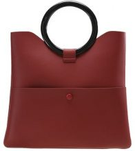 Topshop COOKIE O RING CLUTCH Borsa a mano red