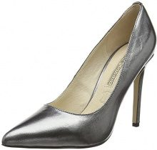 Buffalo London 15P53-5 Mercure Leather, Scarpe con Tacco Donna, Grigio (Grafite 01), 38 EU