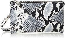 Armani Jeans Wallet - Borse Baguette Donna, Mehrfarbig (Bianco/nero), 12x4x20 cm (B x H T)