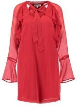 Neon Rose BOW RUFFLED SMOCK  Vestito estivo red