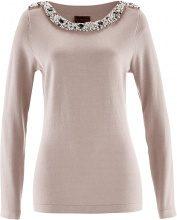 Pullover con perle (Grigio) - bpc selection premium
