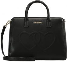 Love Moschino EMBOSSED HEART Borsa a mano nero