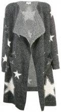 Cardigan lungo a maglia con stella stampata