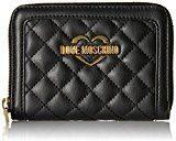 Love Moschino Portafogli Nappa Pu Trap.nero - Pochette da giorno Donna, Schwarz (Black), 10x13x2 cm (L x H D)