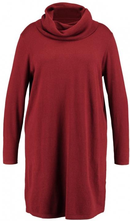 Zalando Essentials Curvy Abito in maglia dark red  fbddc06a5d5